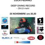 Serata con Luca Pedrali, RECORD -264,8 metri