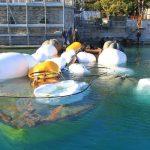 Finalmente recuperata la chiatta affondata a Gardone Riviera