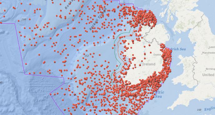 14.000 relitti sommersi nei mari Irlandesi, la mappa