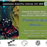 """""""Pionieri degli abissi"""": serata con lo speleo sub Hubert Zistler al CAI SEM Milano"""