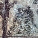 Baiail mosaico sommerso dei lottatori di pancrazio